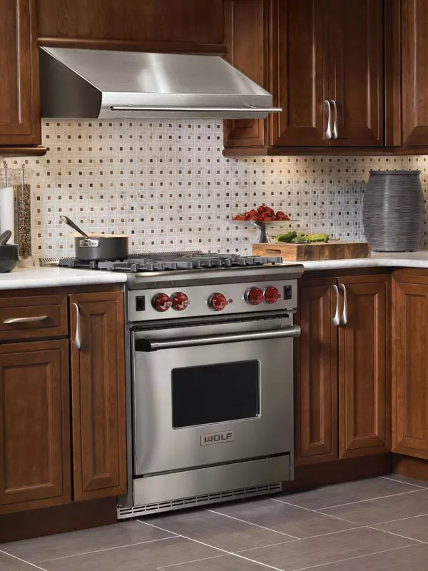 wolf kitchen ranges cabinets lights r304 30 inch pro-style gas range with 4 dual brass ...