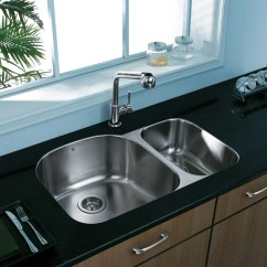 Vigo Kitchen Sinks Corner Table With Bench Industries Vg3121l 32 Inch Undermount Double Bowl ...