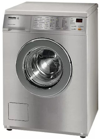 Miele W1215 24 Inch FrontLoad Electric Washing Machine with 10 Wash Programs Stainless Steel