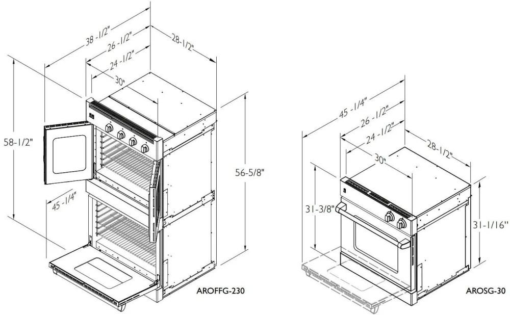 American Range AROFFHGE230N 30 Inch Double French Door