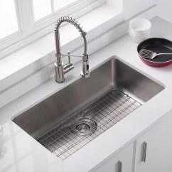 Kitchen Sink Grates Self Sharpening Knife Kraus Bg3117 33 Inch Stainless Steel Bottom Grid With Dex Series Lifestyle View