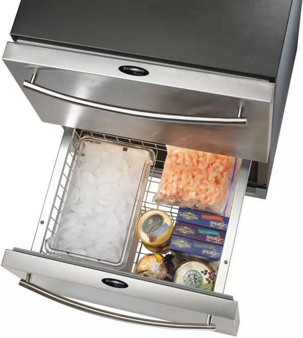 Ice Maker Refrigerator Freezer with Drawers