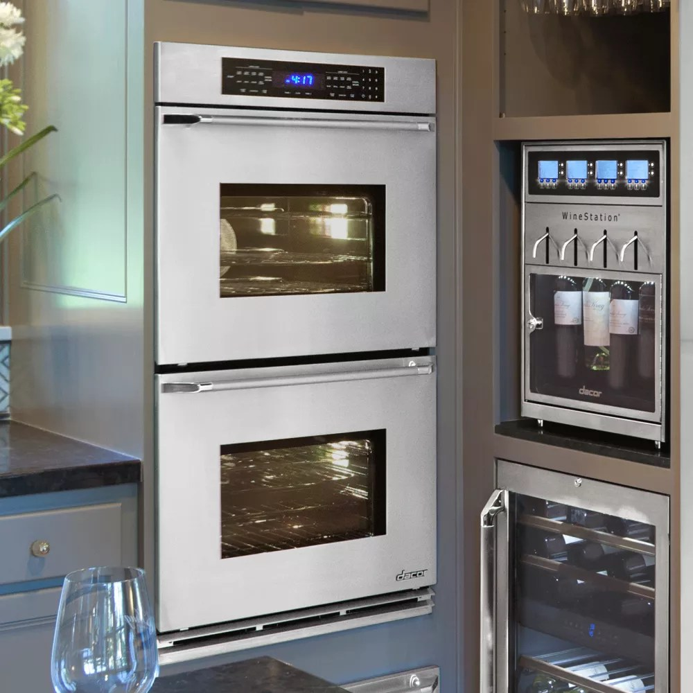 hight resolution of dacor renaissance rno230s stainless steel double wall oven with epicure handle