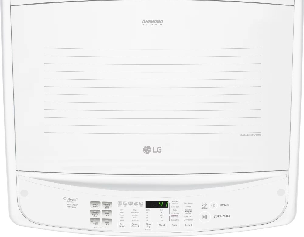 LG DLGY1902WE 27 Inch Gas Dryer with EasyLoad™ Door, Steam