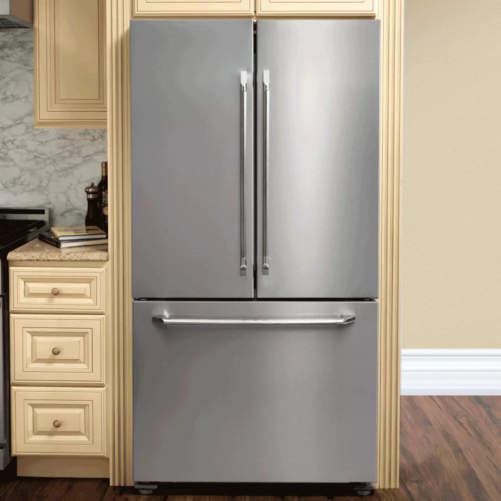 best kitchen hood cabinet parts dacor dtf36fcs 36 inch french door refrigerator with bluev ...