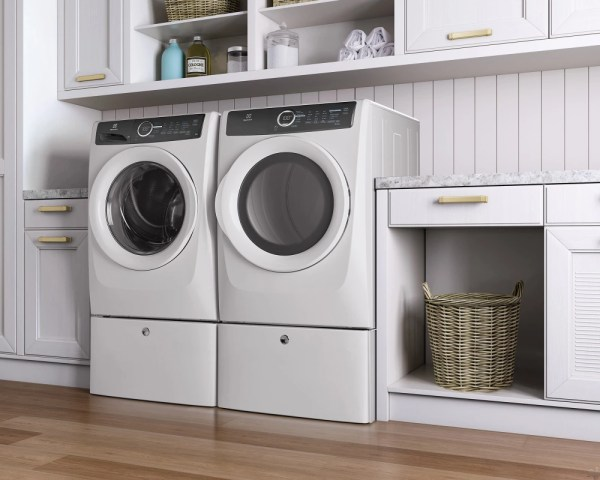 Electrolux Efme417siw 27 8.0 Cu. Ft. Electric Dryer With 7 Dry Cycles 20 Min Fast