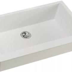 Elkay Kitchen Sinks Backsplash Elxufp3620rt0 36 Inch Quartz Luxe Farmhouse Sink With Ricotta Front View