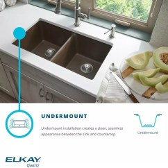 Elkay Kitchen Sinks Small Table For 2 Elg1616mc0 15 3 4 Inch Quartz Classic Single Bowl Sink Undermount Feature