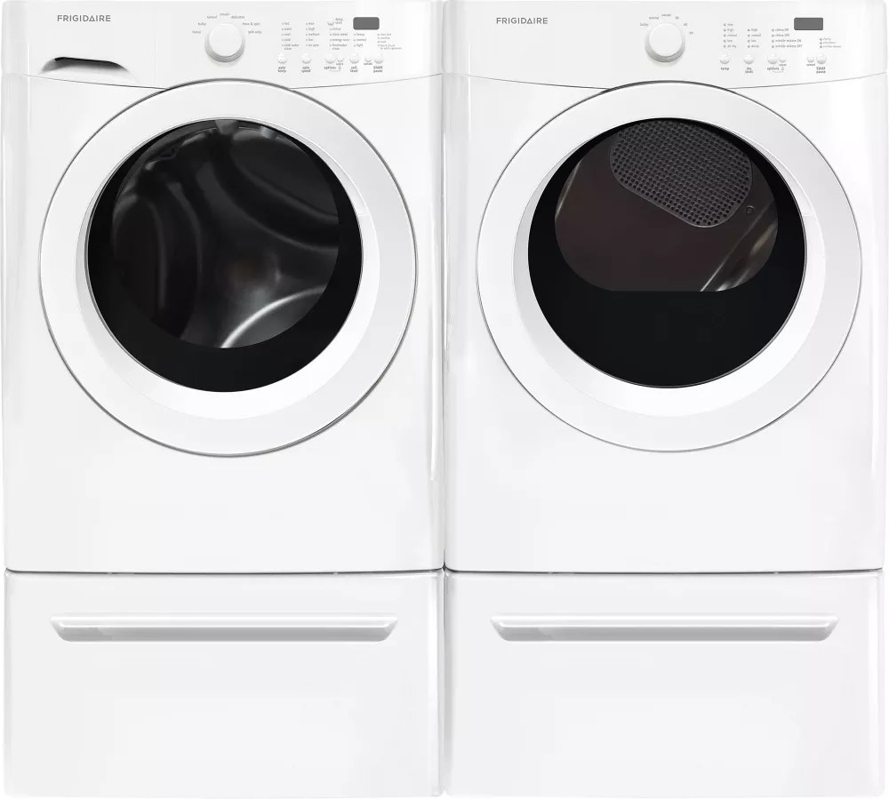 Frigidaire FFFW5000QW 27 Inch Front Load Washer with Antimicrobial Seal Stain Clean Adda