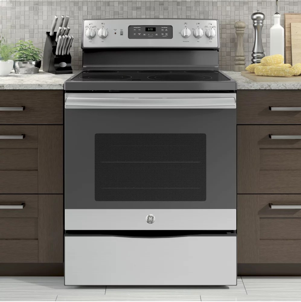 GE JB655SKSS 30 Inch Electric Range with Convection Power