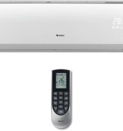 ductless air conditioner heating system gree vireo series vir09hp115v1a the wireless remote controller is sleek versatile and allows [ 1848 x 1526 Pixel ]