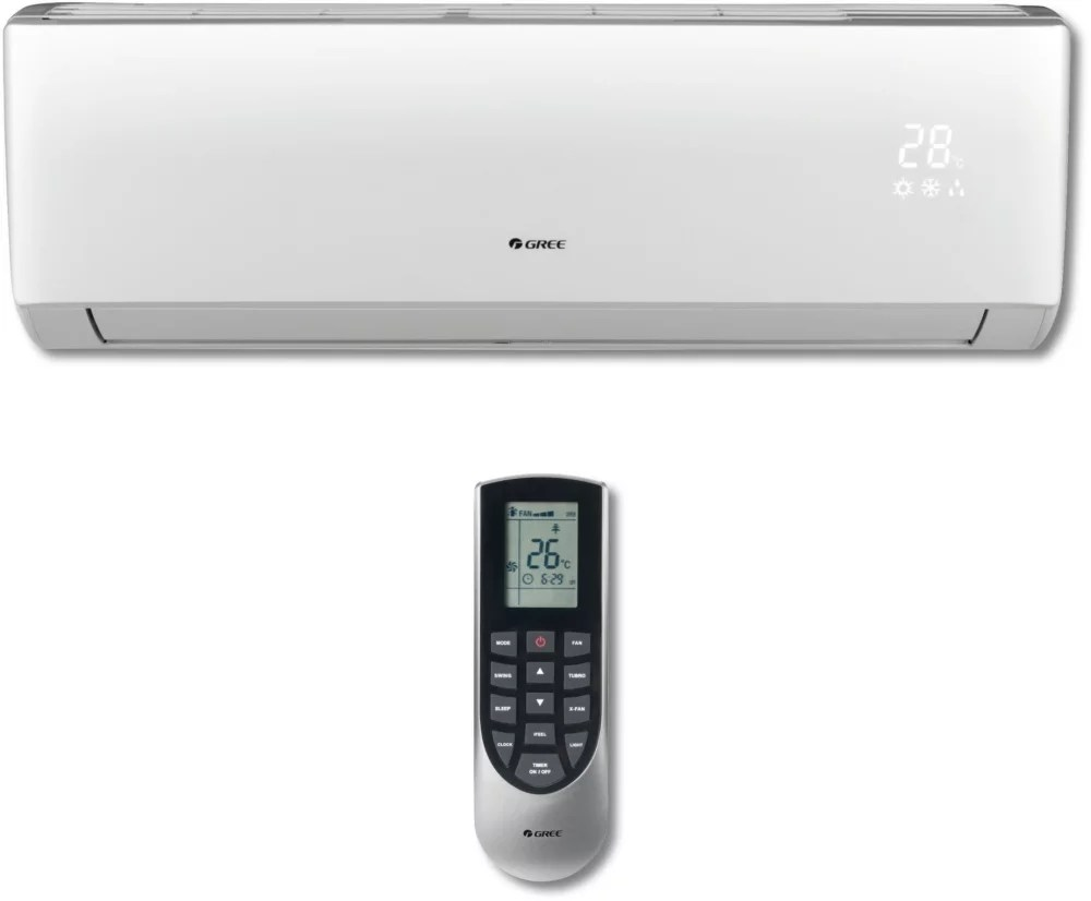 hight resolution of  ductless air conditioner heating system gree vireo series vir09hp115v1a the wireless remote controller is sleek versatile and allows