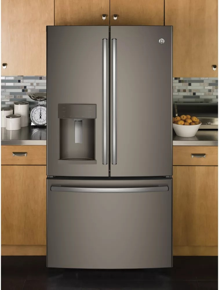 GE GYE22HMKES 36 Inch Counter Depth French Door Refrigerator With TwinChill Turbo Cool