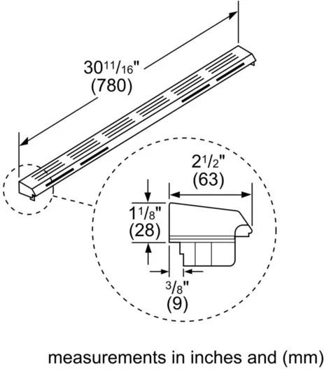Bosch HGZIT301 Island Trim Kit for Gas