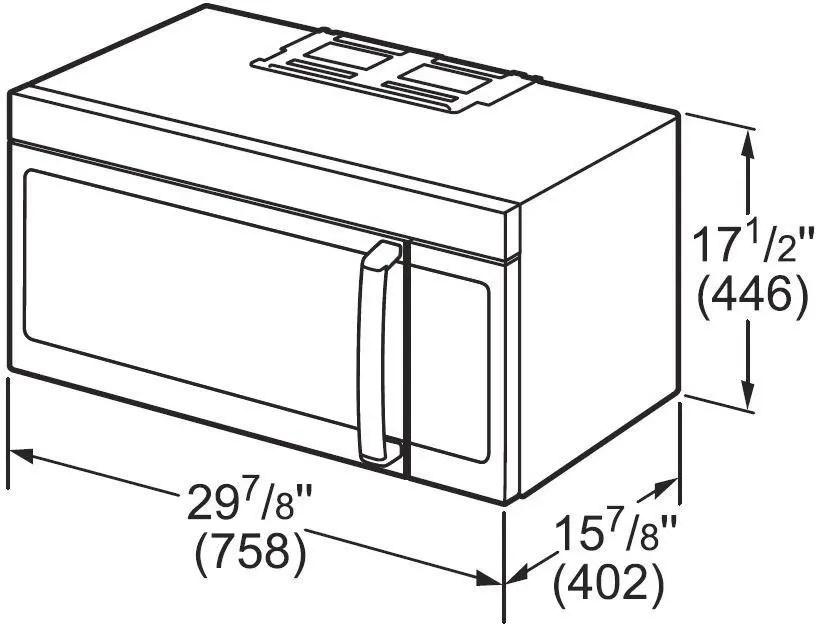 Bosch HMVP053U 1.8 cu. ft. Over-the-Range Microwave with