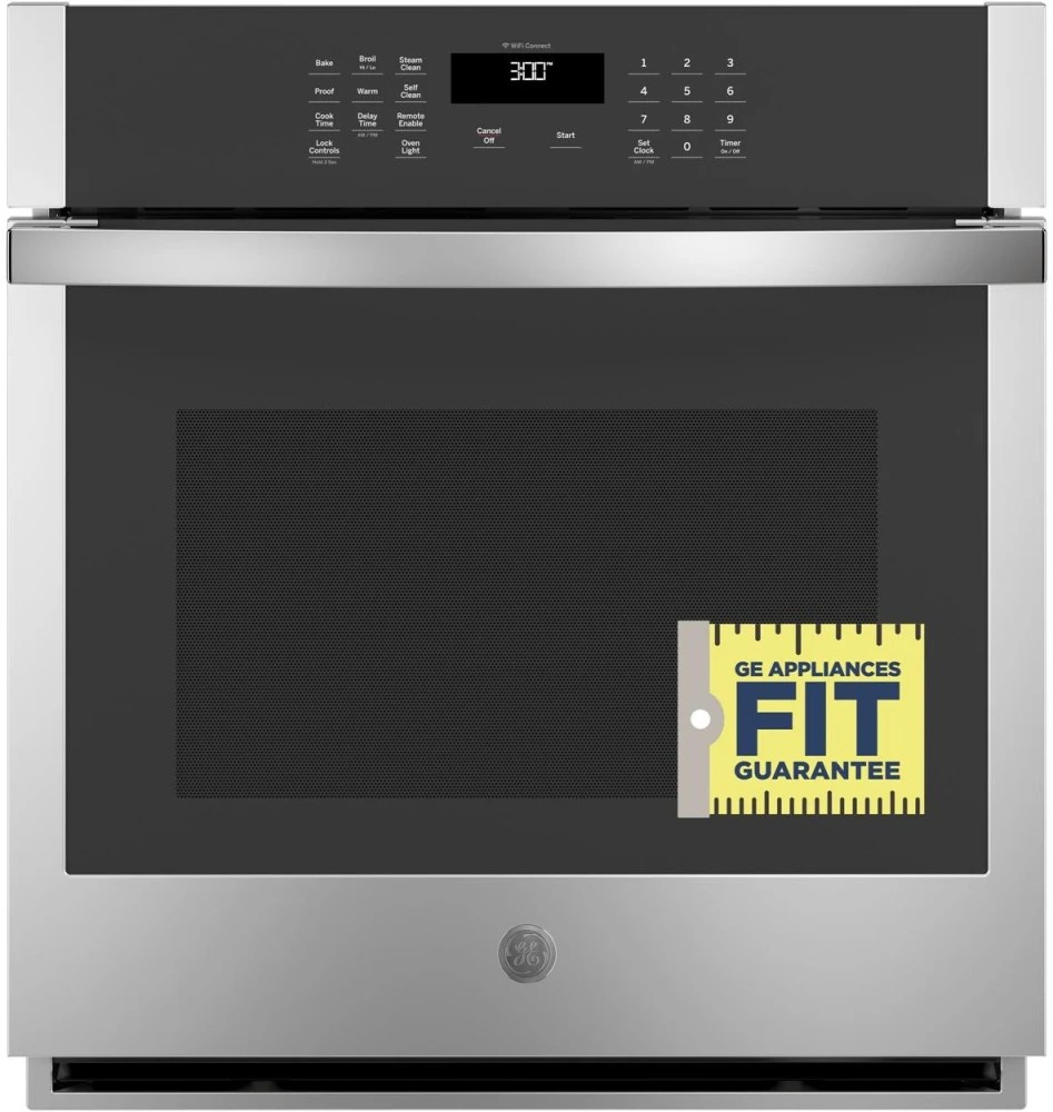 medium resolution of ge jks3000snss 27 inch built in single wall oven with 4 3 cu ft total capacity scan to cook technology fit guarantee glass touch controls