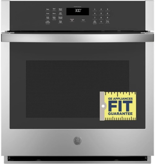 small resolution of ge jks3000snss 27 inch built in single wall oven with 4 3 cu ft total capacity scan to cook technology fit guarantee glass touch controls