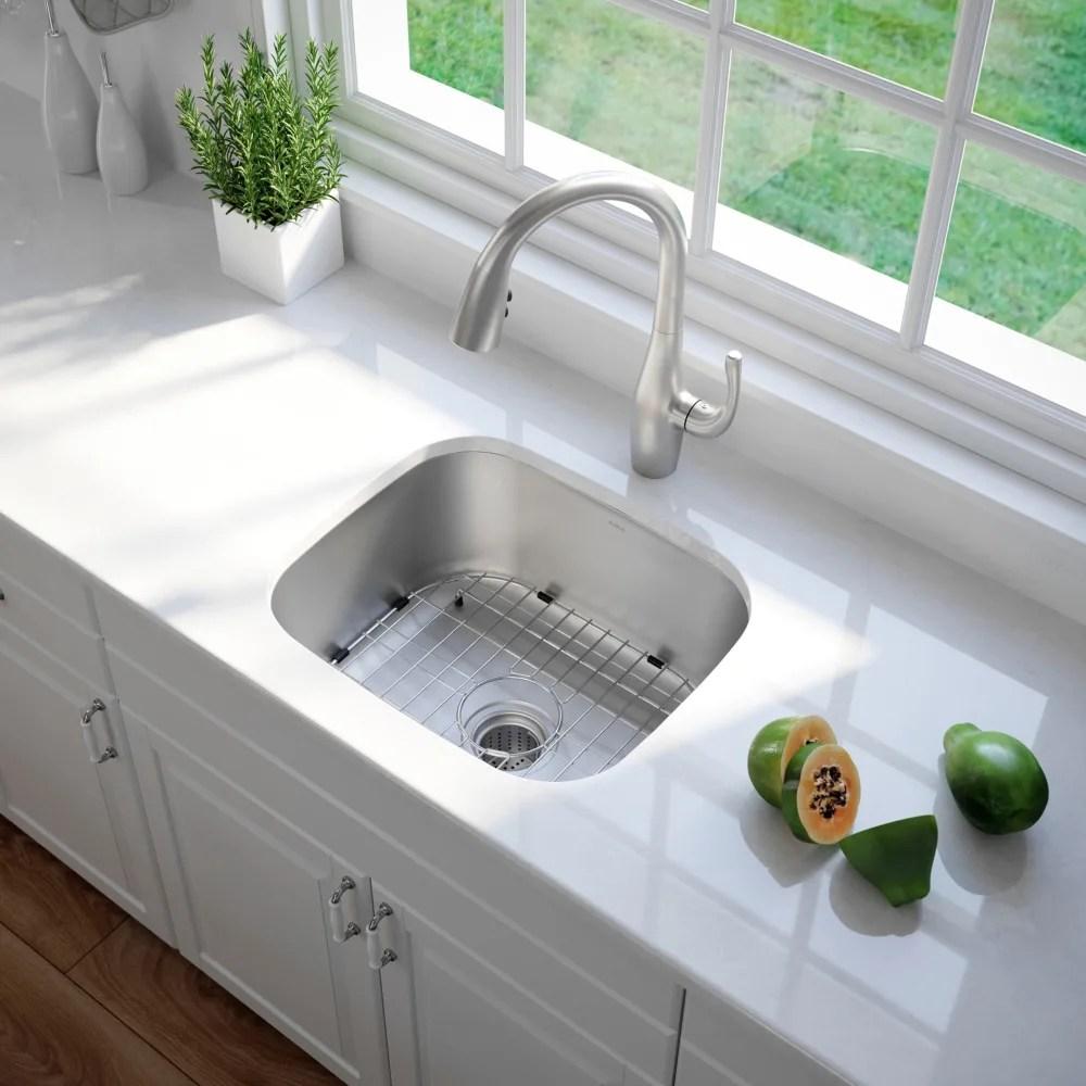 undermount single bowl kitchen sink cheap outdoor kraus kbu11 20 inch with 16 series lifestyle view