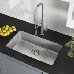 Undermount Single Bowl Kitchen Sink Pine Table Kraus Kd1us33b 33 Inch With Drainassure Waterway Noisedefend Technology And 16 Gauge Stainless Steel