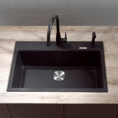 Average Size Of Kitchen Sink Makeover Contest Kraus Kgd412b 31 Inch Dual Mount Single Bowl Granite ...