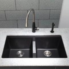 Kraus Kitchen Sinks Cabinet Wine Rack Kgu434b 33 Inch Undermount 50 Double Bowl Granite Sink Series Lifestyle View