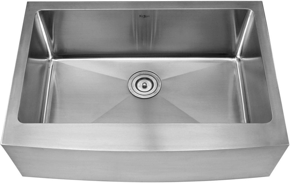 single bowl stainless kitchen sink white stools kraus khf20030kpf2230ksd30ch 30 inch farmhouse combo series