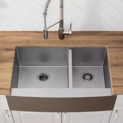 60 40 Kitchen Sink Cart With Drawers Kraus Khf20333 33 Inch Farmhouse Double Bowl 16 Gauge Stainless Steel Noisedefend Soundproofing And Commercial Grade Satin Finish