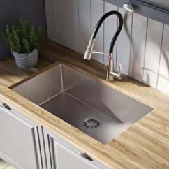 Undermount Single Bowl Kitchen Sink Where To Buy Curtains Kraus Khu10026 26 Inch With 16 Gauge Stainless Steel Noisedefend Technology And Durable Dent Resistant