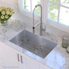 Undermount Single Bowl Kitchen Sink High End Cabinets Brands Kraus Khu10030 30 Inch With 16 Gauge Stainless Steel Noisedefend Technology And Scratch Resistant Finish