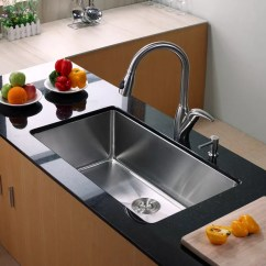 Kraus Kitchen Faucets Yellow Table Khu10032 32 Inch Undermount Single Bowl Sink ...