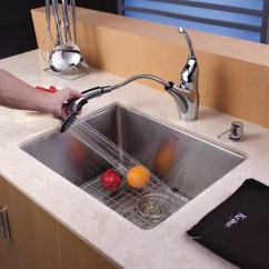 Under Mount Kitchen Sink Ikea Cabinets Kraus Khu10123 23 Inch Undermount Single Bowl With 16 Standart Pro Series Lifestyle View