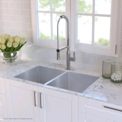 Vigo Kitchen Sinks Cabinets For Less Reviews Kraus Khu10233 33 Inch Undermount 50/50 Double Bowl ...