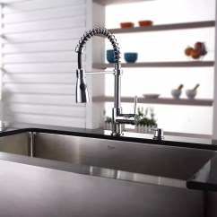 Kraus Kitchen Faucet Towels Kpf1612ksd30ch Single Lever Spiral Spring With Series Lifestyle View