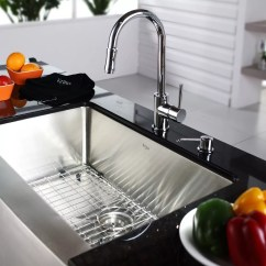 Kraus Kitchen Faucets Curtains Ikea Kpf1622ksd30ch Single Lever Cast Spout Faucet With 2 Series Lifestyle View