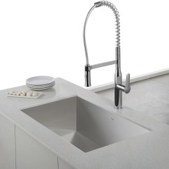 Vigo Kitchen Faucet Under Sink Storage Kraus Kpf1650ss Single Lever Commercial Style ...