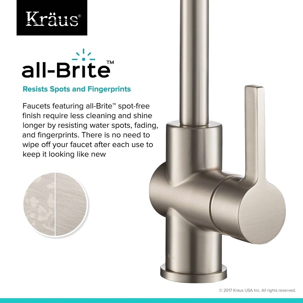 commercial kitchen faucet cabinet factory outlet kraus kpf1690sfs britt single handle with main view all brite feature