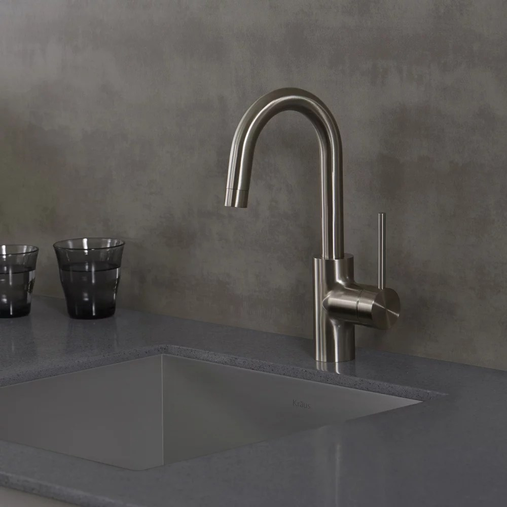 kraus kitchen sinks professional equipment kpf2600ss single handle bar faucet with 5 1 ...