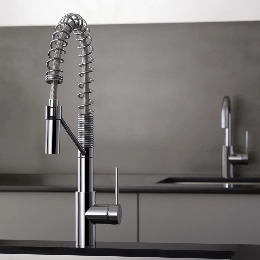 heavy duty kitchen faucet apartment size table kraus kpf2630ss single lever with 9 1 4 inch spout reach oletto series
