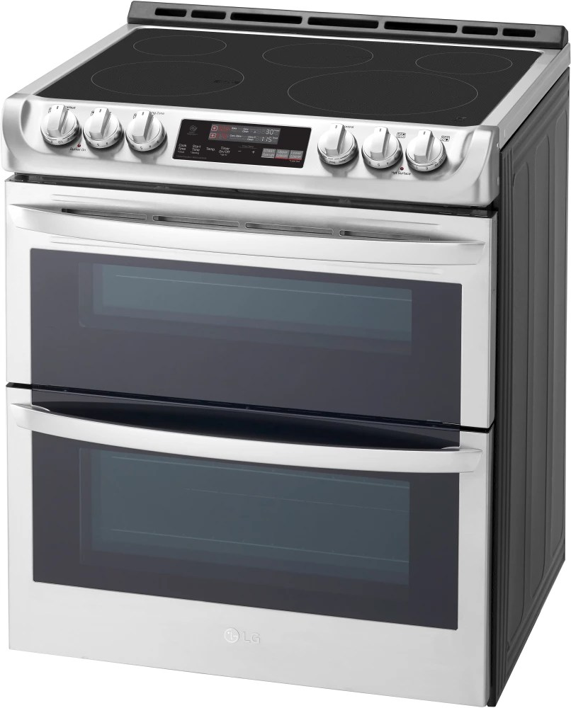 LG LTE4815ST 30 Inch SlideIn Double Oven Electric Range
