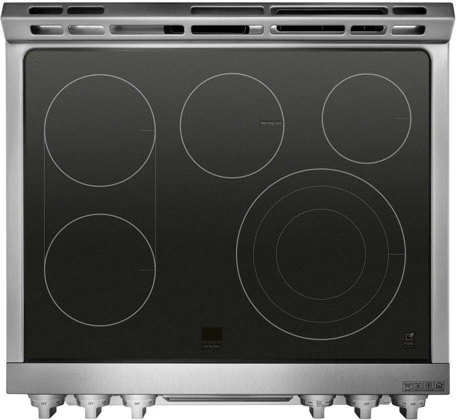 LG LUTE4619SN 30 Inch SlideIn Electric Range with Dual