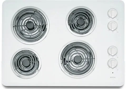 Maytag MEC4430WW 30 Inch Electric Cooktop with 4 Heavy