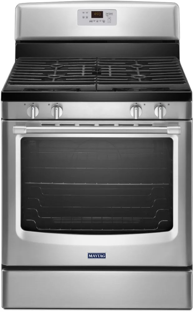 maytag kitchen ranges high end cabinets mgr8600ds 30 inch freestanding gas range with 4 ...