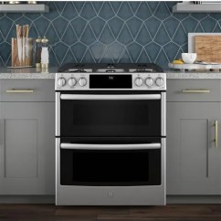 Slate Kitchen Appliances Designs Ge Pgs960selss 30 Inch Slide-in Gas Range With Wifi ...