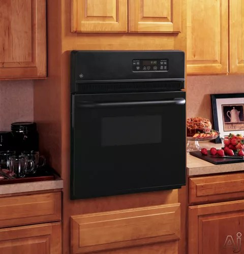 GE JRS06BJBB 24 Inch Single Electric Wall Oven with 27 cu