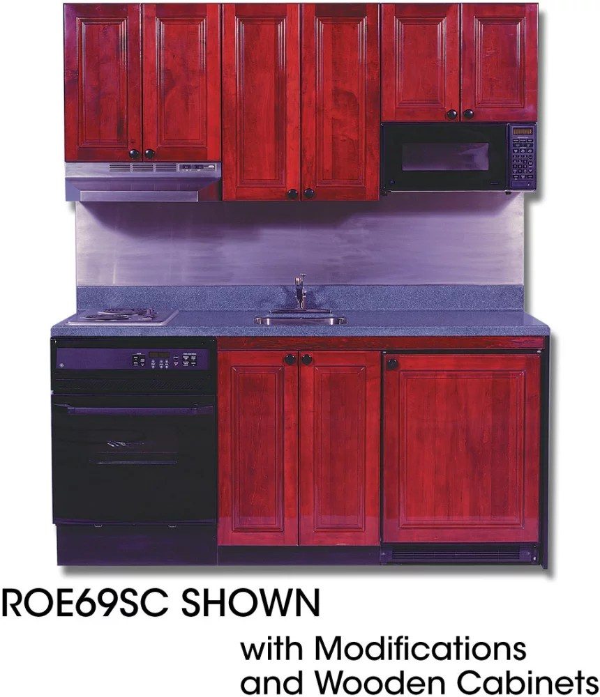 Acme ROE9Y69SC Compact Kitchen with Solid Surface