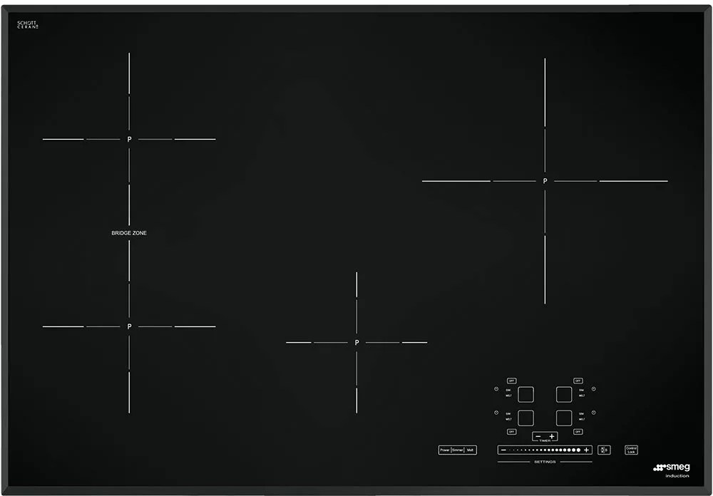 smeg induction hob wiring diagram for jvc car radio simu530b 30 inch cooktop with 4 cook zones 9 power from