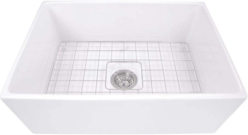 27 kitchen sink home depot glass tile backsplash nantucket sinks tfcfs27 inch farmhouse fireclay with cape collection front view