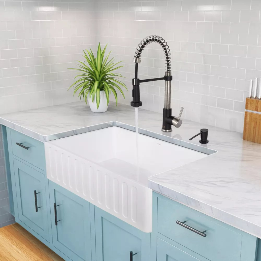30 inch kitchen sink cabinets with legs vigo industries vgra3018cs matte stone single bowl ...