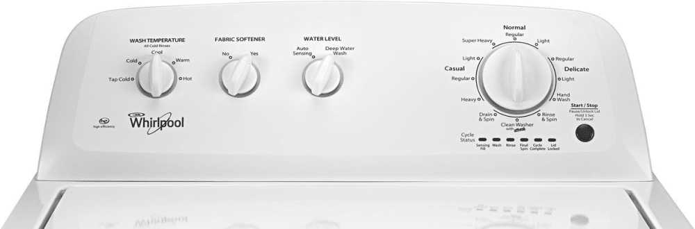 Whirlpool WTW4616FW 27 Inch Top Load Washer Closeout with AddaGarment Cold Wash Dual