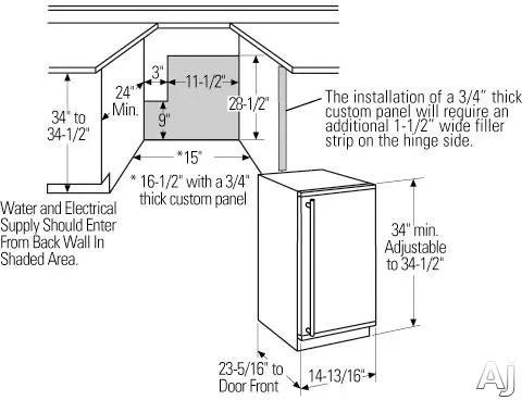 Monogram ZDIS15SSHRH 15 Inch Under Counter Ice Maker with